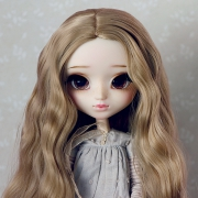 9-10 Long Wavy Wig without Bangs - Cream