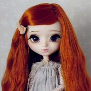 9-10 Medium waved Wig without Bangs - Carrot