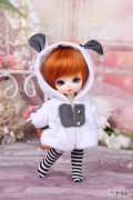 Rabbit (white) Kigurumi Jumpsuit for Tiny BJD