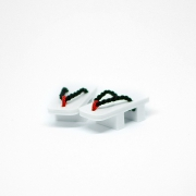 Geta Japanese Shoes White/Black