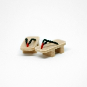 Geta Japanese Shoes Wood/Black
