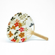 Japanese Fan Uchiwa (Golden Flower)