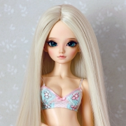 6-7 Long Wig without Bangs - Soft Blond