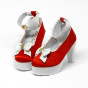 Red High-Heels with Ribbon and stars