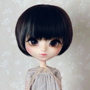 9-10 short straight two-colored wig - Mild Black