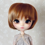 9-10 short straight two-colored wig - Mild Cream