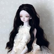 7-8 medium long wavy Wig with braids - Lilac