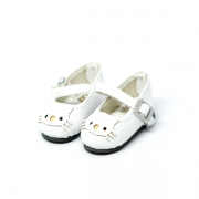 White Shoes with Cat Motive