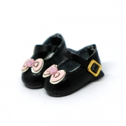 Black Shoes with Ribbon