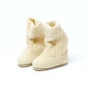 Beige fluffy Winterboots