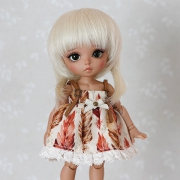 5-6 Wig with Pigtails - Soft Blond