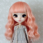 9-10 Medium wavy Wig - Milky Pink