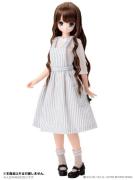 White-Grey Apron One-Piece Dress (Pure Neemo)