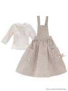 Weiß-Braunes Schürzen-Kleid (Pure Neemo)