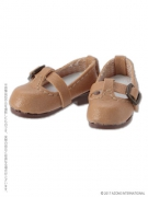 Beige T-Strap Shoes