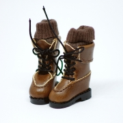 Brown high Boots with socks