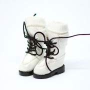 White high Boots with socks