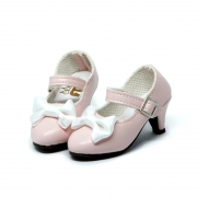 Pink Shoes with Ribbon