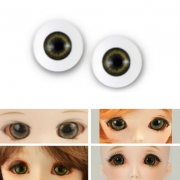 BJD Acrylic Realistic Eyes - Green Grey