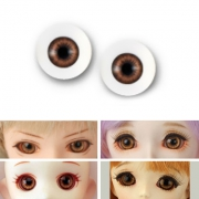 BJD Acrylic Realistic Eyes - Light Brown