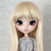 9-10 Medium Wig with Curls - Soft Blond