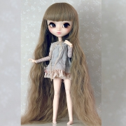 9-10 extra long wavy Wig - Pale Green