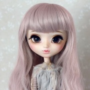 9-10 extra long wavy Wig - Powder Pink