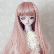7-8 medium Wig - Grayish Pink
