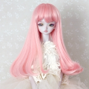 7-8 medium Wig - Grayish Pink