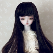 7-8 medium Wig - Soft Black