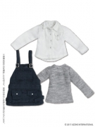 Black Raven Clothing Overall Set (Picco Neemo 1/12) - Navy/White
