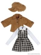 Little Autumn Girl Set - Brown/Navy (Pure Neemo)