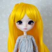 9-10 long curled Wig with curled braids - Lemonade