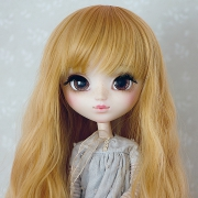9-10 Long waved Wig - Honey Blond