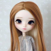 9-10 extra long curled two-colored Wig - Coconut