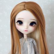 9-10 Extra lang gelockte zweifarbige Wig - Coconut