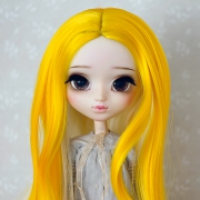 9-10 extra long curled two-colored Wig - Sweet Banana
