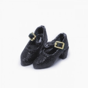 Black Glitter-Pumps