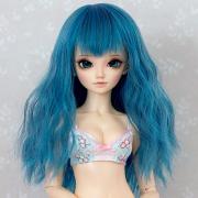 6-7 medium wavy Wig - Cerulean Blue