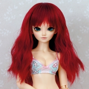 6-7 medium wavy Wig - Crimson Red
