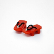 Geta Japanese Shoes Red/Black
