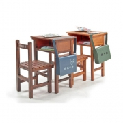 1/12 School Series High school single sear desks and chairs