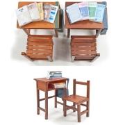 1/12 School Series High school single sear desks and chairs
