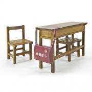 1/12 School Series  Elementary school desks and chairs