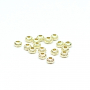 Beads golden patterned balls 0,4 x 0,3 cm, 50 pieces