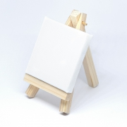 Miniature canvas with easel 13x7,5 cm