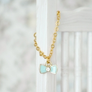 Necklace - Small Ribbon with Crystal